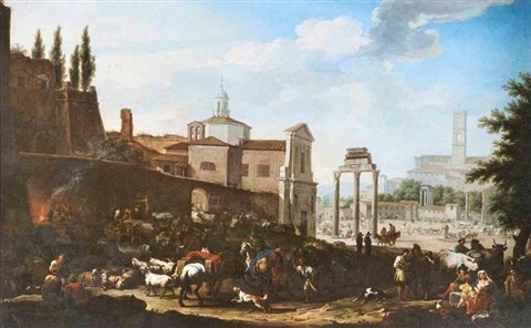 campo vaccio forum romanum by jacob de heusch