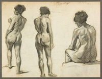 nude studies by albert françois fleury