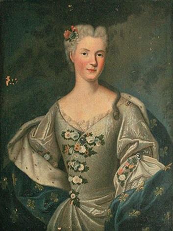 portrait de marie leczinska by louis tocqué