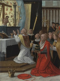 the mass of st. gregory by flemish school-antwerp (16)