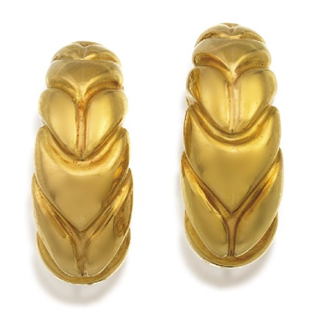 pair of earrings by bulgari