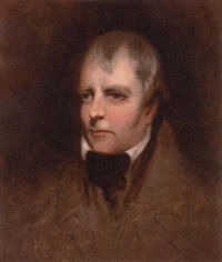 portrait of sir walter scott in a brown coat by a.p. dixon