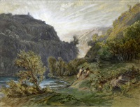 les gorges de tivoli by auguste paul charles anastasi