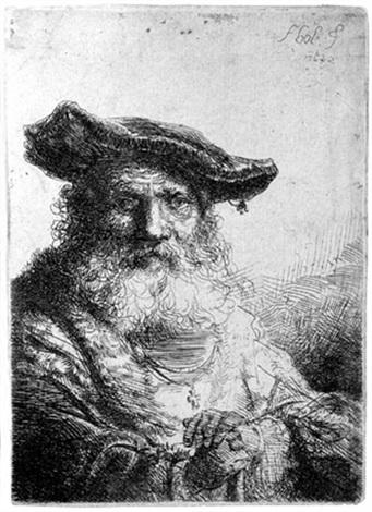 Alter Mann mit langem Bart und Samtkappe by Ferdinand Bol on artnet