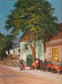gasthaus in neustift am walde, wien by max spilhaczek