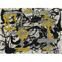 number 12a: yellow, gray, black by jackson pollock