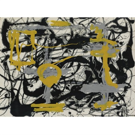 number 12a yellow gray black by jackson pollock