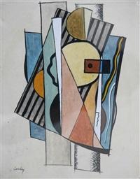 composition cubiste by joseph csaky