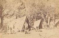 zigeunerlager bei reschitza, banat by andreas groll