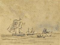 les voiliers by eugène boudin
