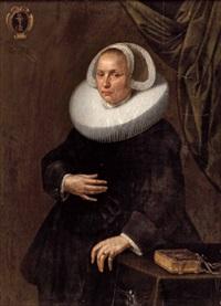 dreiviertelportrait einer dame by johannes cornelisz verspronck