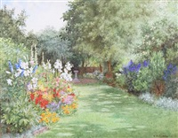 a garden in july by violet m. common