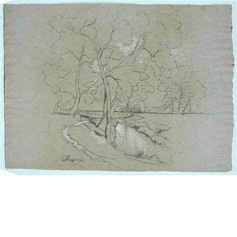 group of landscape sketches 5 works by david johnson