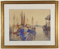 boats in the harbor by alice judson