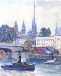 la seine a rouen by frank milton armington