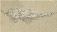 a woman resting on a hammock by pierre ozanne