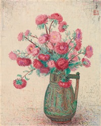 a vase of flowers by pan yuliang