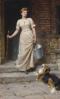 the most devoted of her slaves by briton riviere