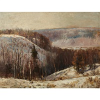 winter landscape by william edwin atkinson