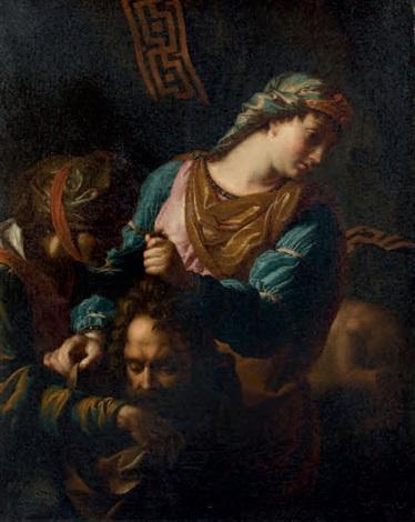 judith donnant la tête dholopherne à sa servante abra by antoine rivalz