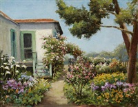 rush cottage garden - pacific grove, cal by william adam