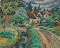 road to the village by louis ritman