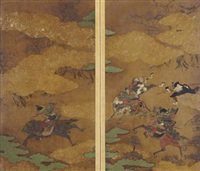 battle scene by iwasa matabei