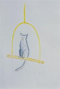 untitled (cat on perch) by vivienne shark lewitt