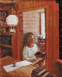 reading by the window by rowland davidson