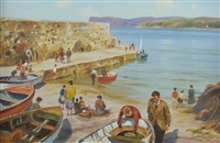 the old harbour, ballycastle by donal mcnaughton