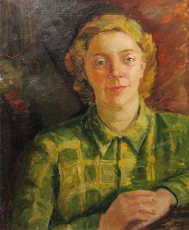 painter ecaterina cristescu delighiozs portrait by aurelia vasiliu aricescu