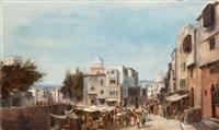 vue présumée d'un marché dans la vieille ville d'alexandrie by henry eugène delacroix