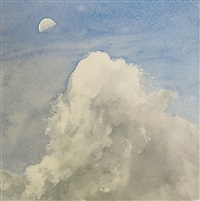 cloud and half moon, day by geoff hendricks