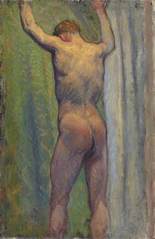 standing male nude an académie by john peter russell