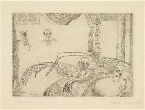 la luxure by james ensor