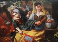 a family of savoyards in the kitchen by bernhard keil