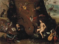 the temptation of saint anthony by pieter huys