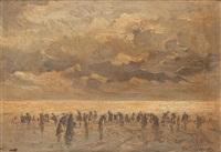 la plage by emile louis vernier
