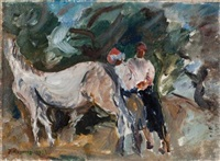 horse and a couple by joseph kossonogi