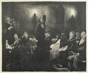 prayer meeting no. 2 by george wesley bellows
