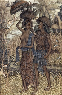 harvesting by i ketut djawi