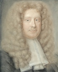 portrait of a gentleman (+ 3 others; 4 works) by bernard vaillant