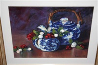 still life with berries by sarah davidson