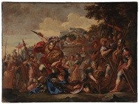 the death of turnus by pietro da cortona