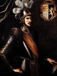 leonardo di tocco, duca di zacinto e principe di acaia, in armi by carlo sellitto