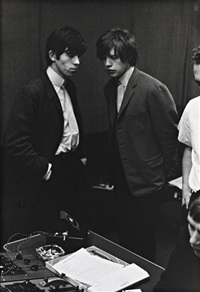 mick and keith in studio by phillip townsend