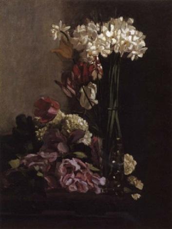 fleurs narcisses dans un vase by frédéric bazille