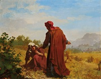 booz and ruth collecting barley ears by kazimierz alchimowicz