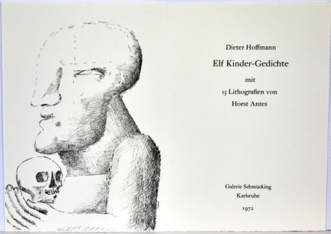 Elf Kinder Gedichte Book With 13 Lithographs By Horst Antes