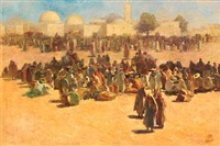 before the mosque, tunisia by odön tull